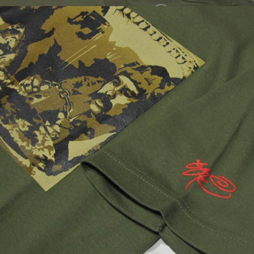フロントプリント半袖Tシャツ-5