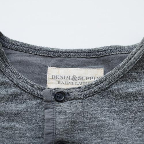 霜降りヘンリーネックロングスリーブTシャツ - 4