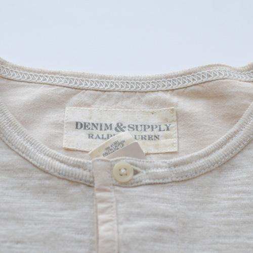 霜降りヘンリーネックロングスリーブTシャツ - 5