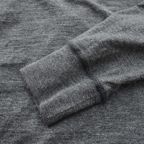 霜降りヘンリーネックロングスリーブTシャツ - 6