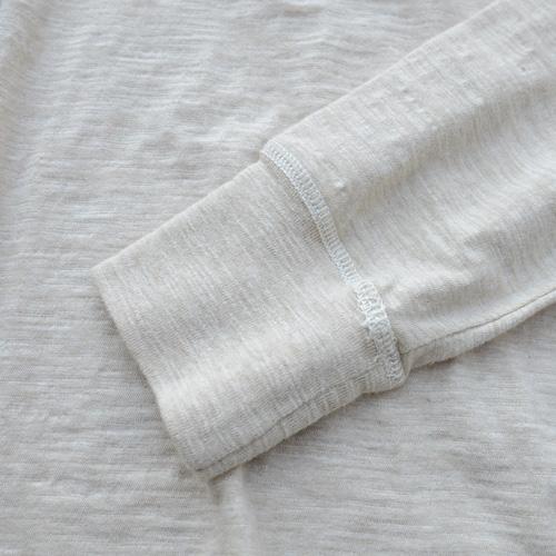 霜降りヘンリーネックロングスリーブTシャツ - 7