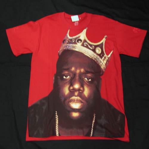 """フロントプリント半袖Tシャツ """"The Notorious B.I.G"""""""