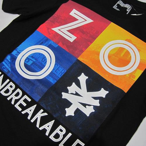 フロントプリント半袖Tシャツ - 1