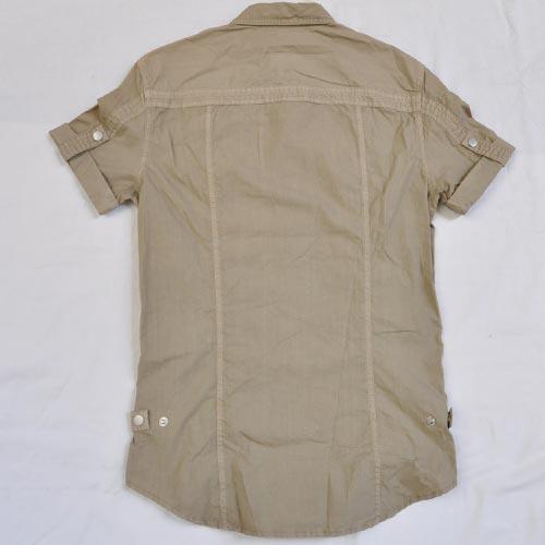 ミリタリー半袖ボタンシャツ - 1