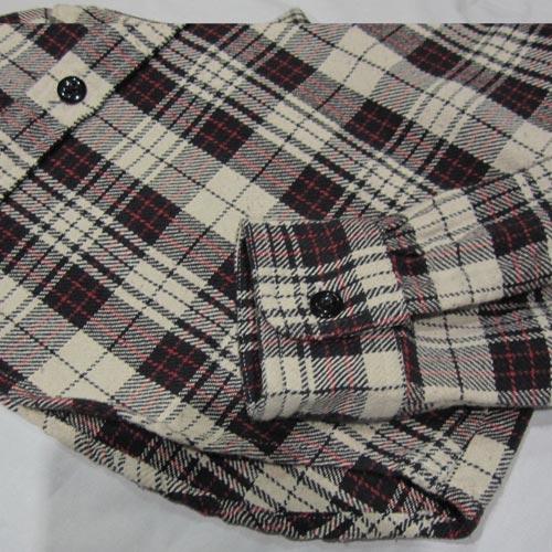 タータン・チェックフランネルシャツ - 4