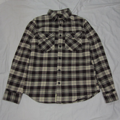 タータン・チェックフランネルシャツ