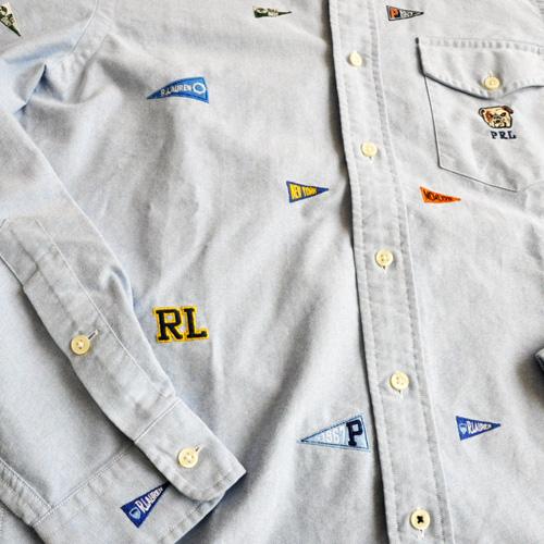 POLO RALPH LAUREN / ポロラルローレン モノグラムシャンブレーシャツ - 2