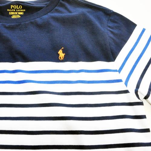 RALPH LAUREN / ラルローレン ワンポイント ボーダーTシャツ BOY'S SIZE - 2