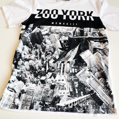 ZOO YORK / ズーヨーク New yorkフォトプリント半袖Tシャツ-3