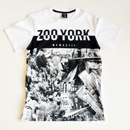 ZOO YORK / ズーヨーク New yorkフォトプリント半袖Tシャツ