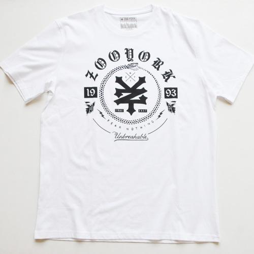 ZOO YORK/ズーヨーク オールドイングリッシュフォントTシャツ BIG SIZE