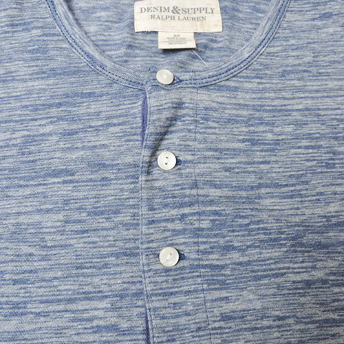 霜降りヘンリーネック半袖Tシャツ - 2