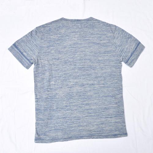 霜降りヘンリーネック半袖Tシャツ - 3
