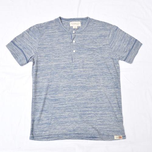 霜降りヘンリーネック半袖Tシャツ