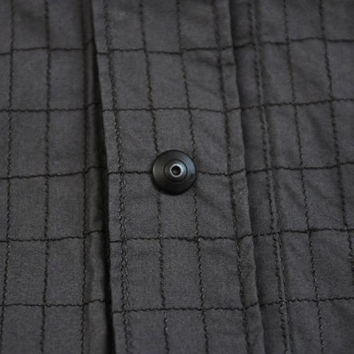 ミリタリーチェック半袖シャツ - 1
