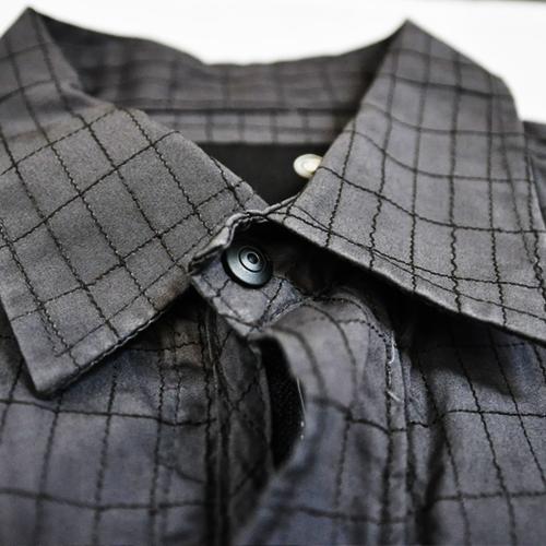 ミリタリーチェック半袖シャツ - 2
