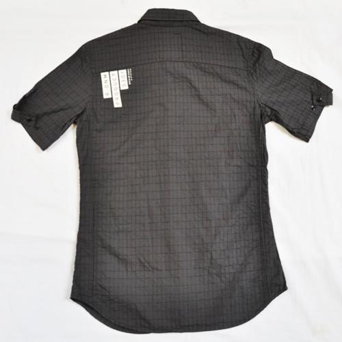 ミリタリーチェック半袖シャツ - 3