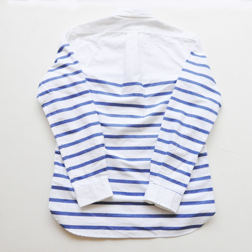 POLO RALPH LAUREN / ポロラルローレン ボーダーオックスフォード BDシャツ ホワイト - 1