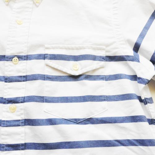 POLO RALPH LAUREN / ポロラルローレン ボーダーオックスフォード BDシャツ ホワイト - 2