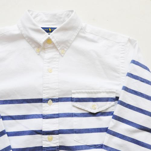 POLO RALPH LAUREN / ポロラルローレン ボーダーオックスフォード BDシャツ ホワイト - 3