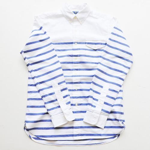 POLO RALPH LAUREN / ポロラルローレン ボーダーオックスフォード BDシャツ ホワイト