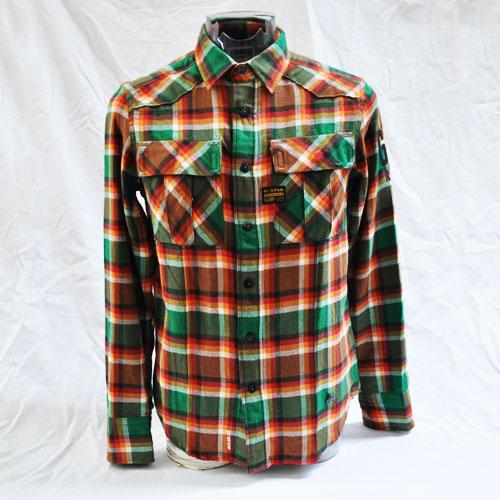 長袖チェックシャツ