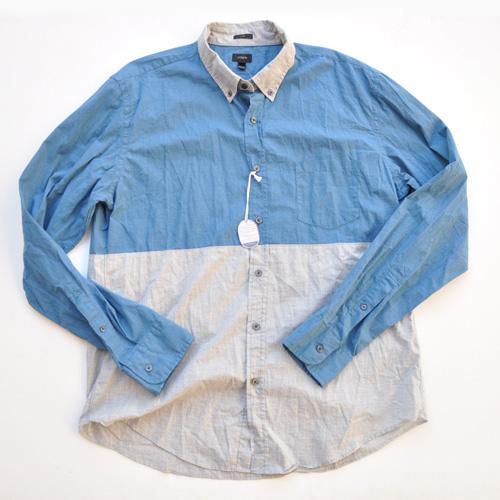 J.crew/ジェイクルー 切り返しボタンシャツ