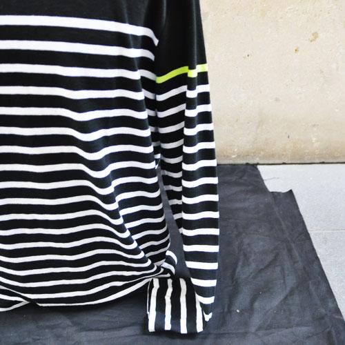 ボーダーロングTシャツ - 1
