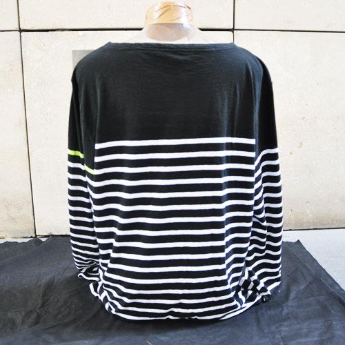 ボーダーロングTシャツ-4
