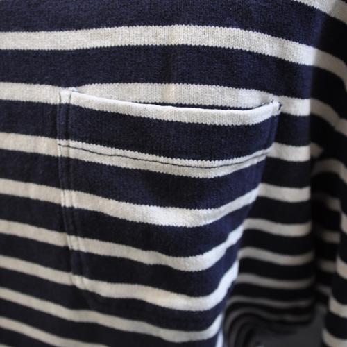 ヴィンテージマリンボーダー長袖Tシャツ - 1