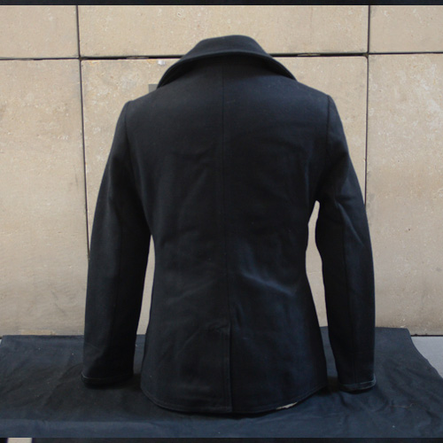 DENIM&SUPPLY(デニム&サプライ) メルトンPコート ブラック - 1