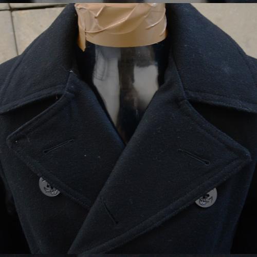 DENIM&SUPPLY(デニム&サプライ) メルトンPコート ブラック - 5