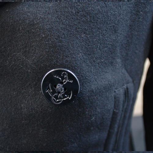 DENIM&SUPPLY(デニム&サプライ) メルトンPコート ブラック - 6