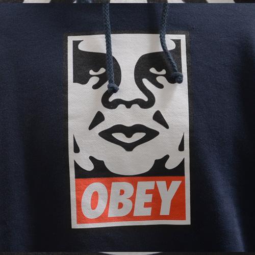 OBEY(オベイ)フロントプリントフードパーカ - 2