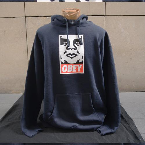 OBEY(オベイ)フロントプリントフードパーカ