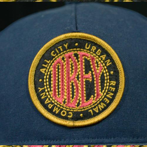 OBEY(オベイ) スナップバックCAP ネイビー - 1