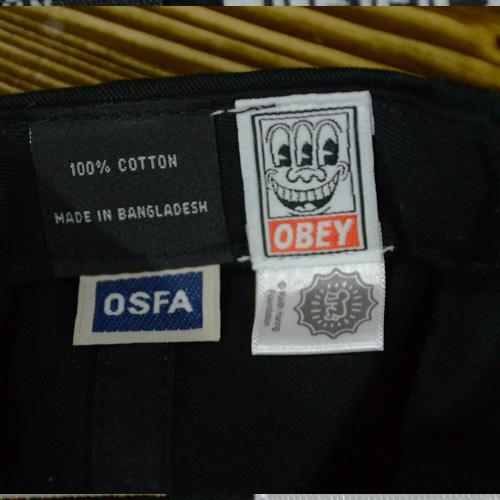 OBEY(オベイ×キースへリング) スナップバック ブラック - 1