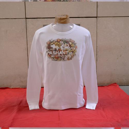 ASHANTie (アシャンティ) フロントフラワープリントロングスリーブサーマルTシャツ  - 4