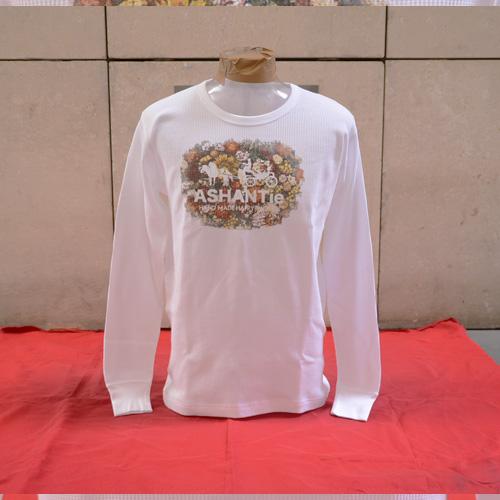 ASHANTie (アシャンティ) フロントフラワープリントロングスリーブサーマルTシャツ