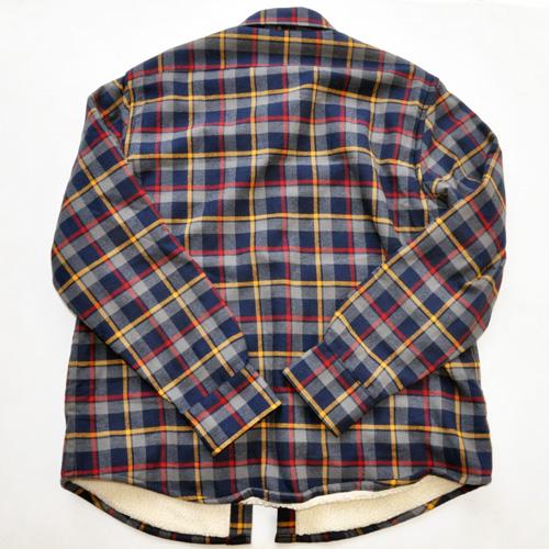 J.CREW/ジェイクルー 裏地ボア ブロックチェック柄 ロングスリーブシャツ ネイビー - 1