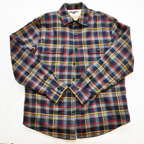 J.CREW/ジェイクルー 裏地ボア ブロックチェック柄 ロングスリーブシャツ ネイビー