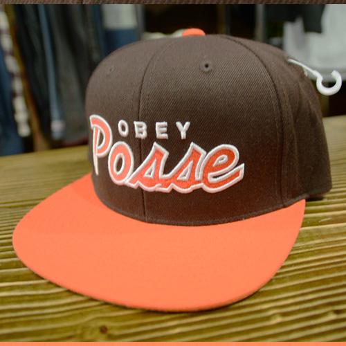 OBEY (オベイ) スナップバック ブラウン×オレンジ