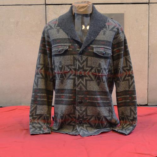 RRL (ダブルアールエル)ネイティブ柄ショールカラースウェットジャケット