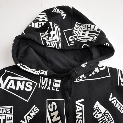 VANS / バンズ ALL OVER LOGO HOODIE ブラック US限定 - 2