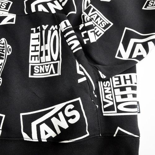 VANS / バンズ ALL OVER LOGO HOODIE ブラック US限定 - 3