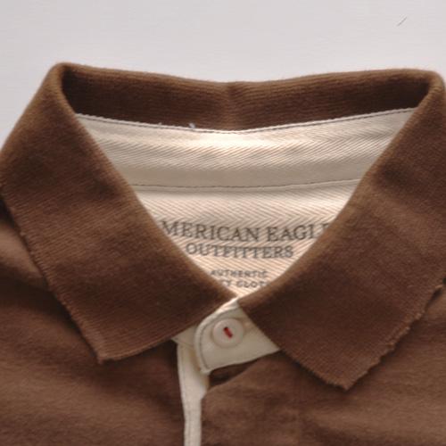 AMERICAN EAGLE (アメリカンイーグル) ポロシャツ ブラウン - 4