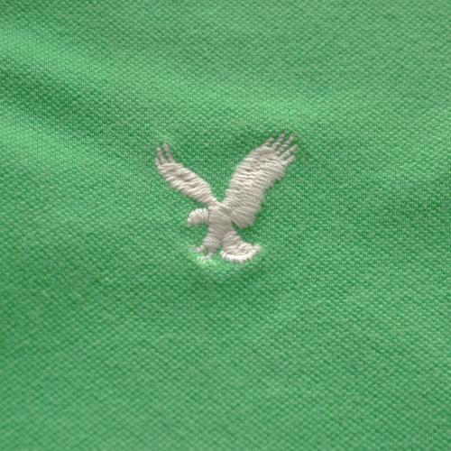 AMERICAN EAGLE (アメリカンイーグル) 半袖ポロシャツ グリーン - 2
