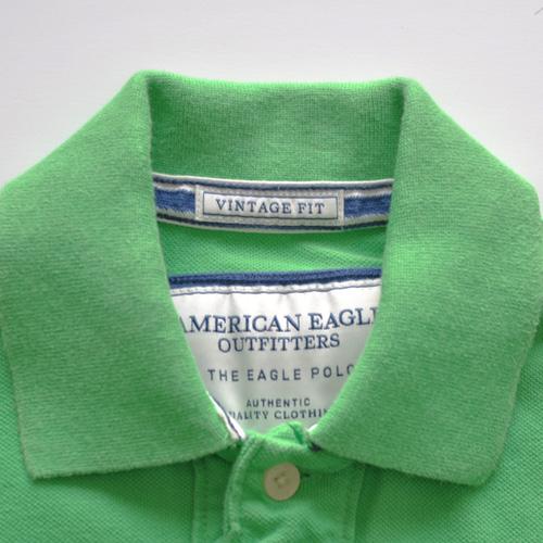 AMERICAN EAGLE (アメリカンイーグル) 半袖ポロシャツ グリーン - 4