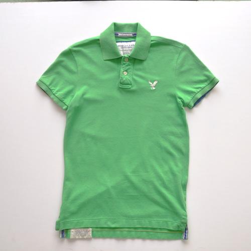 AMERICAN EAGLE (アメリカンイーグル) 半袖ポロシャツ グリーン