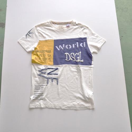 DESIGUAL (デジグアル) 半袖Tシャツ ホワイト